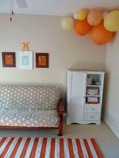 Fun idea for a kid's room or creative space
