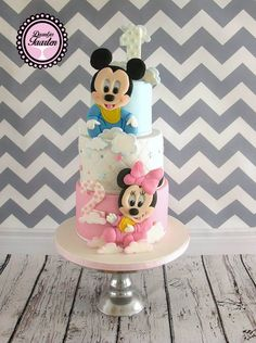 kindertaart Minnie en Mickey