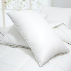 NEW Set of 2 Caress Polyester Bed Pillows - 2 Year Warranty Hypo-Allergenic #WebLinens