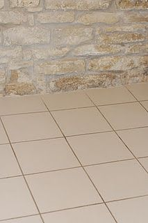 Faux Tile Flooring...all you need is a little paint!
