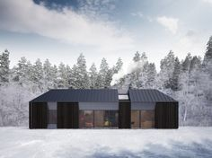 Almost makes winter attractive to me. Almost.  --Claesson Koivisto Rune Debuts Gorgeous Daylit Tind Prefab Houses in Scandinavia.