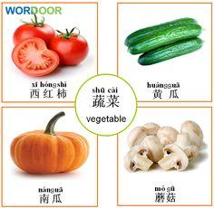 Wordoor Chinese - Vegetables  #chinese #mandarin #language #vegetables