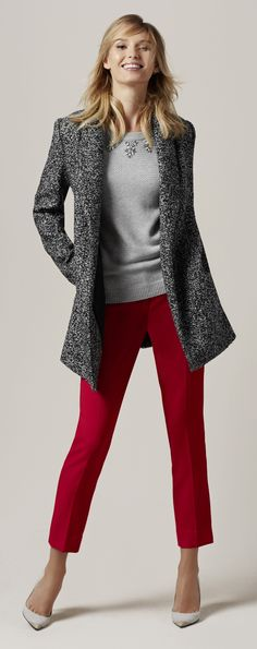 Let it Snow - Substantial yet soft! Marled tweed is cozy warm and keeps you comfortable through every winter day.