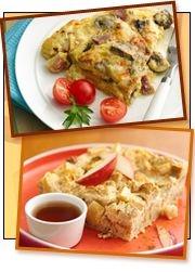 Tons of no-guilt morning meals Low Calorie Breakfast, Savory Breakfast, Breakfast Recipes, Free Breakfast, Breakfast Ideas, Mug Recipes, Cooking Recipes, Yummy Drinks, Yummy Food