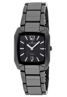 (Limited Supply) Click Image Above: Jacques Lemans Women's Dublin High Tech Ceramic Stainless Steel Ip-black Watc Bulova, Seiko, Square Watch, Watches Online, Le Mans, Dublin, Cool Designs, Tech, Stainless Steel