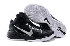 acc3ef4f4e96 Mens Nike Hyperdunk 2014 Black Metallic Silver Cheap Buy Nike Shoes