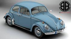 Volkswagen Beetle 1963 1200 Deluxe royalty-free 3d model - Preview no. 1