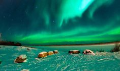 Northern Lights Inuvik. This is the only reason we'd go in the winter...bucket list :-)