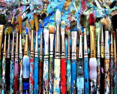Splattered Artist Brushes  8 x 10  by BroomhillPictures on Etsy, $20.00
