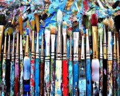 Splattered Artist Brushes Etsy
