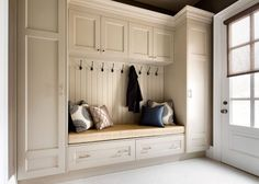 Mudroom with cabinets