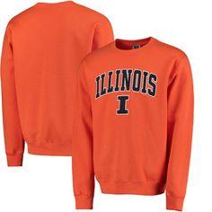 san francisco 377ed c6235 Illinois Fighting Illini Arch   Logo Crew Neck Sweatshirt - Orange