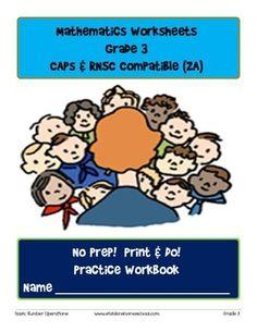 No Prep! Print & Do! Grade 3 Math Practice Workbook CAPs C 3rd Grade Math, Grade 3, Math Exercises, Homeschool Curriculum, Homeschooling, Math Drills, Math Practices, Test Prep, Teacher Newsletter