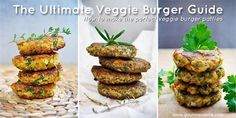 The Ultimate Veggie/Vegan Burger Guide | How to make the perfect veggie burger patties | If you'll follow my ultimate veggie burger guide, I promise you'll create the best veggie burgers ever! Get the basics right and then the imagination is the limit! You'll uncover the great world of veggie burgers! *Can Add panko instead of breadcrumbs