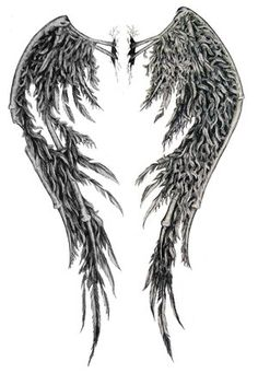 Bone Wings Tattoo - Google Search I think this would be perfect for a back tattoo                                                                                                                                                                                 More