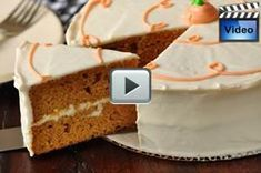 This Pumpkin Spice Cake consists of two moist layers of buttery spice cake that are filled and frosted with a wonderful maple-flavored cream cheese frosting. From Joyofbaking.com With Demo Video