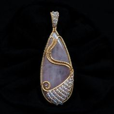 Fire Dance: Wire Wrapped Pendant