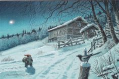 Foto: Kjell Midthun, Finland, unused (from E. Troll, Christmas Greetings, Christmas Cards, Beautiful Forest, New Year Card, Christmas And New Year, Illustrators, Fairy Tales, Illustration Art