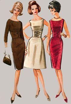 Vintage 60 s McCalls 7056 fous Wiggle robe ajustée encolure Midriff et évidé Vintage Sewing Pattern taille 10 buste 31