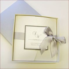 Pocketfold Wedding Invitation with Ribbon by WeddingParaphernalia, £4.50