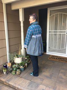 "Upcycled men's shirts, new tunic. Paganoonoo ""Patti"" Upcycling instructions."