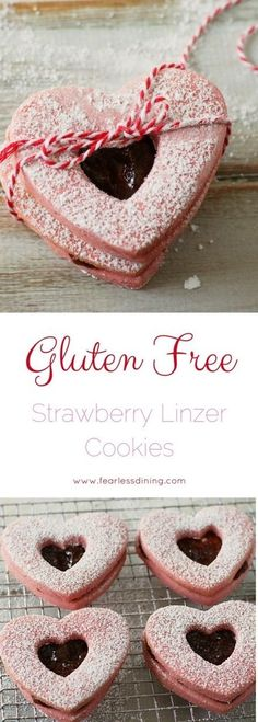 Gluten free linzer cookie recipe. Easy gluten free strawberry cookie recipe. Strawberry jam filled cookie. How to make linzer cookies. via @fearlessdining