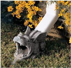 Amazon.com: Gothic Dragon Gargoyle Downspout Rainspout Sculpture Statue: Home & Kitchen