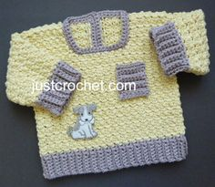 fjc146-Textured Sweater Baby Crochet Pattern | Craftsy