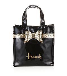 Harrods Glitter Bow Bag Small Luxury Beauty