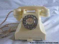Mint condition ivory bakelite telephone now for sale....