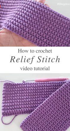 Different Crochet Stitches, Crochet Stitches For Beginners, Crochet Stitches Patterns, Crochet Videos, Knitting Stitches, Crochet Basics, Crochet Designs, Unique Crochet Stitches, Crochet Stitches Free