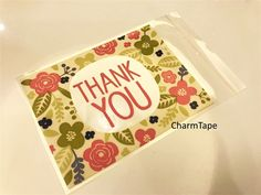 Thank You Bags // Cello Bags // Poly Bags // Self Sealing bags // Wedding Favor Bags // Party Thank You Bags Set of 20 bags CB11   cello #cellophane #bags #cookiebag #plastic #bags #bag #packaging #partyfavors #partyplanner #partybag #party #giftbag #thankyou #thankful #packing #cute #transparent  $2.75 buy from http://www.charmtape.com