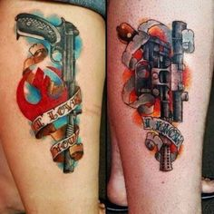 Leia and Han Star Wars tattoos. I love you… I know tattoos