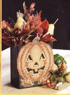 Plastic Canvas House Patterns | Delightfully Spooky Plastic Canvas Patterns…