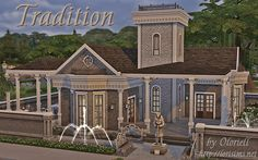 """""""Tradition"""" restaurant for The Sims 4 by Oloriell"""