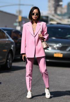 STYLECASTER | How to Wear Sneakers to Work