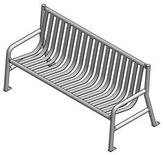 Steel Strap Benches: Sturdy but stylish, the Steel Strap Series is virtually maintenance free and will serve your park visitors for many years. - Iowa Prison Industries