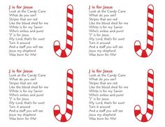 7 Best Images of Candy Cane Poem Printable Tag - Grinch Candy Cane Poem Printable Tag, Legend of the Candy Cane Story Printable and Christmas Candy Cane Poem Printable Christian Christmas Crafts, Christmas Jesus, Preschool Christmas, Christmas Activities, Christmas Crafts For Kids, A Christmas Story, Christmas Candy, Christmas Sayings, Christmas Tables