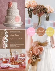 pink brown and gold wedding | green bay | Wedding Dresses: Color Me Pretty: Falling for Pink