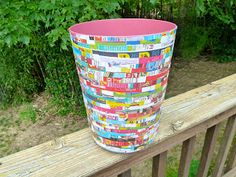 Make it easy crafts: Recycled waste—wastebasket with Mod Podge