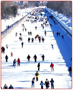 Skating on the Rideau Canal in Ottawa - longest outdoor rink in North America. I had planned to skate the canal on my trip to Ottawa. Unfortunately too warm and the canal hadn't frozen over yet. Ottawa Canada, Ottawa Ontario, O Canada, Outdoor Rink, Outdoor Skating, Places To Travel, Places To See, Beaver Tails, Canadian Culture