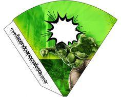 Cone Guloseimas Hulk: