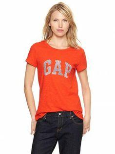 Camiseta Gap Women's Arch Logo Slub T Fiery Red #Gap#Camiseta