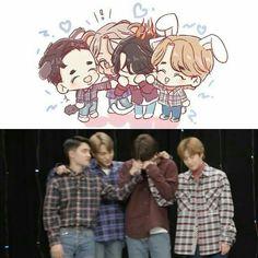 Exo Cartoon, Exo Ot12, Kaisoo, Chibi, Exo Stickers, Exo Anime, Exo Album, Exo Fan Art, Kpop Drawings