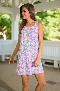 print jersey shift dress … | Pinteres…