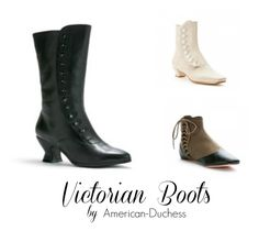 Best choices for Victorian women's boots and shoes, steampunk boots, and Victorian wedding boots. Victorian or Civil war style shoes from around the web.