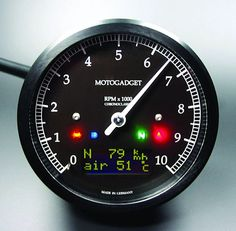 Motogadget Speedometer and Tachometer Gauge Cluster for the Triumph Bonneville, SE, T100, Thruxton and Scrambler