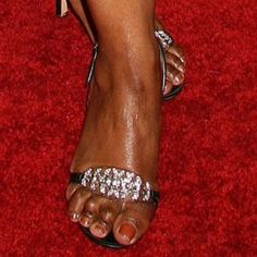 Ugliest Feet on the Prettiest Celebrities, Ugh! - Rolling Out Celebrity Feet, Celebrity Photos, Prettiest Celebrities, Angela Bassett, Foot Photo, Shoulder Muscles, Fashion Images, Being Ugly, Uggs