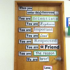 Idea for new school year...love this!