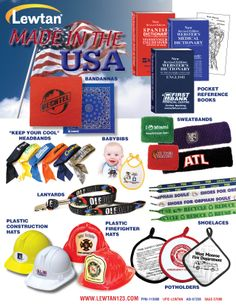 We have bandannas that are made right here in the USA.  Support our Country.